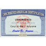 Unnumbered American ID